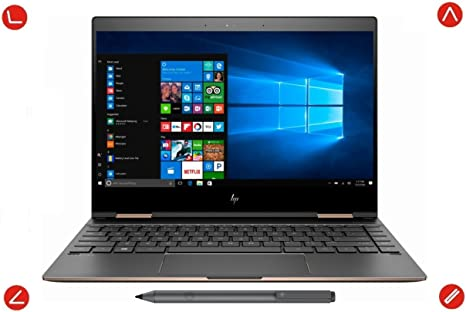 2018 Latest HP Spectre x360 13t Touchscreen Yoga Style 2-in-1 Windows 10 Pro Laptop & Tablet - Intel i7-8550U Quad Core, 13.3