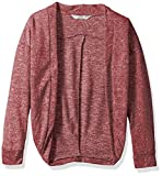 Harmony and Balance Girls' Big Long Sleeve Sweater Knit Top, Dusty Rose, 7/8