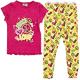Dark Pink Peace and Love Pajamas for Girls