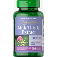 Puritans Pride Milk Thistle 4:1 Extract 1000 Mg (silymarin) Softgels, 180