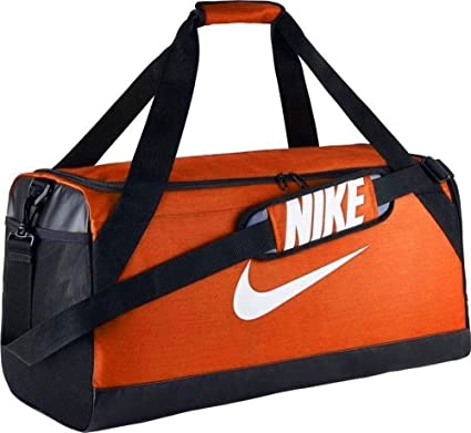 51f1a062633171 NIKE Brasilia Duffel Sports Gym Bag, Medium - Orange/Black, 3723 cu ...