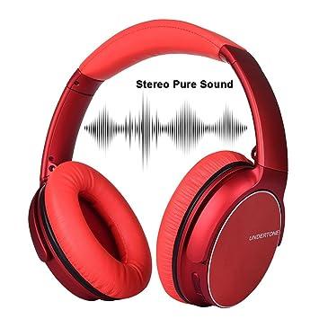 Auriculares Silenciadores Plegables de Bluetooth Inalámbrico, 3D-Sonido Estéreo Soporta Para PC / TELÉFONO CELULAR / TV y Así Sucesivamente(Rojo,): ...