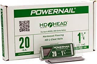 "product image for Powernail 20ga 1-1/4"" HD L Cleat Flooring Nail (5-1000ct boxes)"