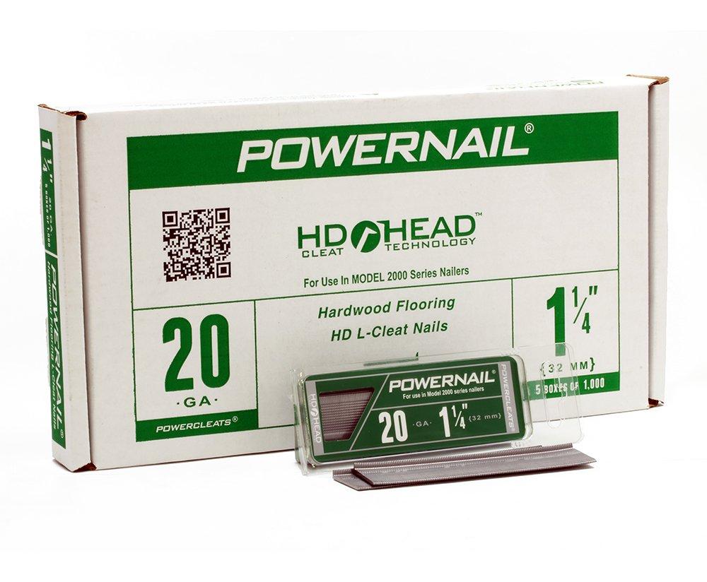 Powernail 20ga 1 1 4 HD L Cleat Flooring Nail 5 1000ct boxes