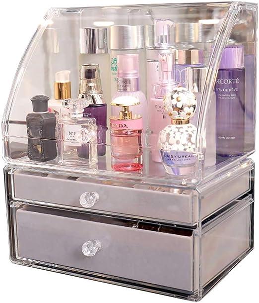 LIYANSNH Acrílico Transparente Maquillaje Organizador Caja de ...