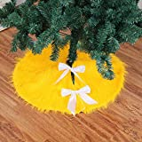 Home Decor,Home Decorations for Living Room 78cm Christmas Plush Long Haired Christmas Tree Skirt Christmas Tree Skirt Decor