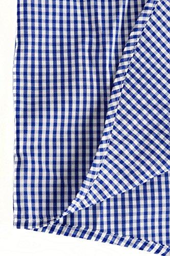 JP 1880 Herren große Größen bis 7 XL   Hemd kariert   Kurzarm Karohemd aus 100% Baumwolle   Brusttaschen & Bügelfrei   Comfort Fit   blau 6XL 703620 71-6XL