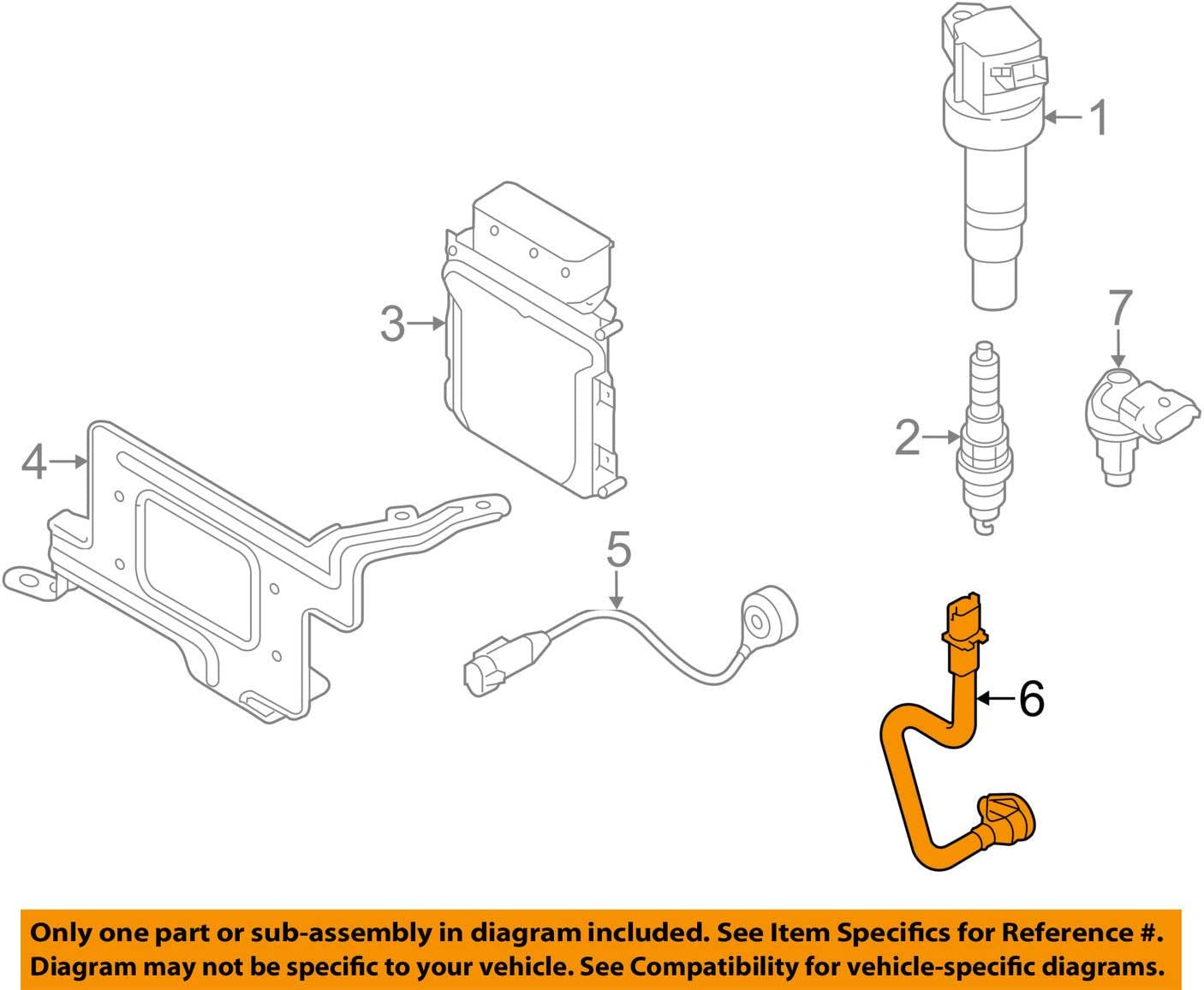 2014-2017 Kia Crankshaft Position Sensor 39180-2B030