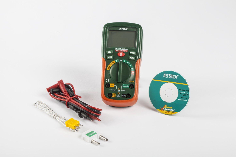 Extech EX230 - Multímetro digital con termómetro de infrarrojos (12 funciones): Amazon.es: Industria, empresas y ciencia