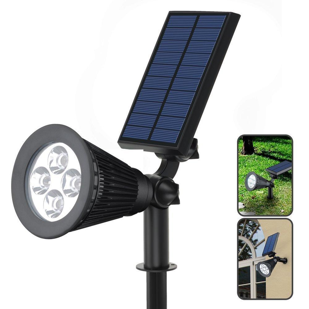 Solar Lights Outdoor, MeiLiio LED Solar Spotlights Motion Sensor, Outdoor Solar String Light 5V 2W IP44 Waterproof Lamps Pole LED Path Lights Solar Lawn Garden Lights Stair Light 1 Pack
