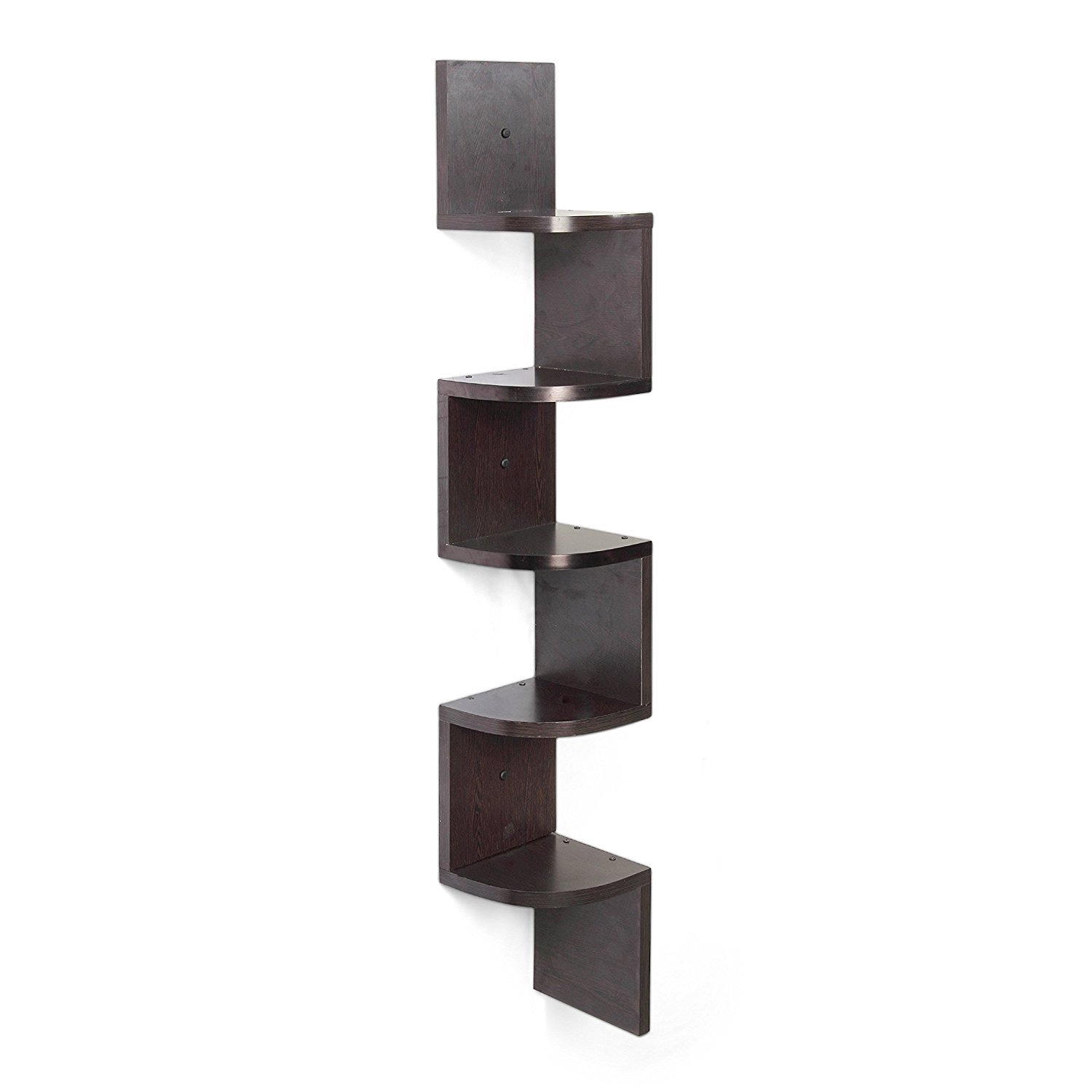 Orril Zigzag Corner Wall Mount Shelf Unit Brown Amazon