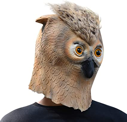 Latex Full Head Animal Owl Bird Popular Fancy Dress Up Carnival Prop Party Masks