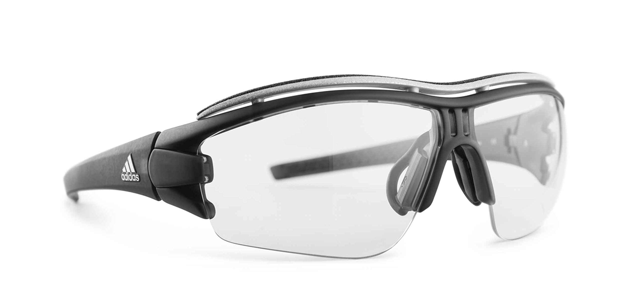 adidas Evil Eye Halfrim Pro L Sunglasses 2018 Coal Reflective Vario Antifog Clear - Gray