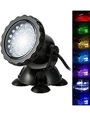 Bloowmin-3.5W 12V Lampe Spot Light Projecteur 36 LEDs Submersible Aquarium Multicolore Réglable Basse Consommation Lumiere UE