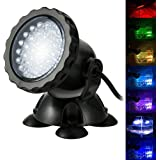 GreenSun LED Lighting Luces Sumergibles, 4 in 1 36 LED Piscina Luz ...
