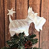 Scottish Terrier Christmas Tree Topper with Star