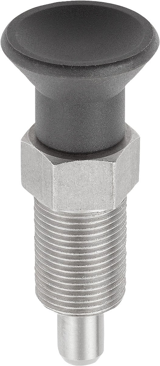 Tilt Locating Pins Size 3 M16 Form: A THERMOPLASTIC with Extension Lock Pen: Stainless Steel, D = 8, Pack of 1 K0630.211308