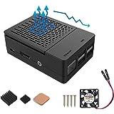 iUniker Raspberry Pi 3 B+ Case, Raspberry Pi Fan ABS Case with Cooling Fan, Raspberry Pi Heatsink, Simple Removable Top…
