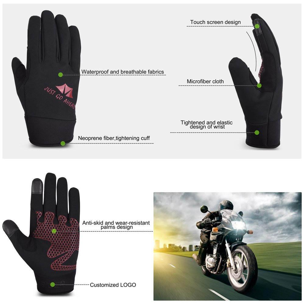 VBIGER Cycling Gloves Tounchscreen Sports Gloves