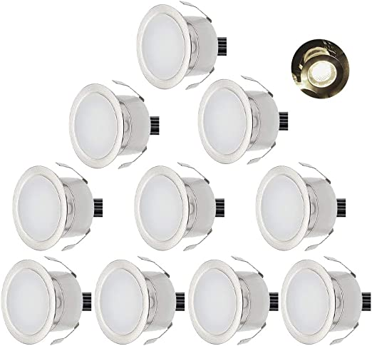KITCHEN COOL WHITE IP65 10 X RECESSED LED PLINTH LIGHTS DECKING LIGHTS GARDEN
