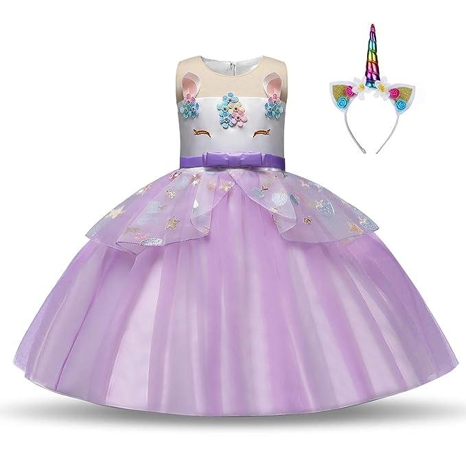 Pretty Princess Disfraz de Unicornio para niña de 3 a 10 ...
