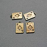 10 PCS Jewelry Making Charms Findings Supply Supplies Crafting Lots Bulk Wholesale Antique Bronze Tone Plated 87145 Poker A Spade