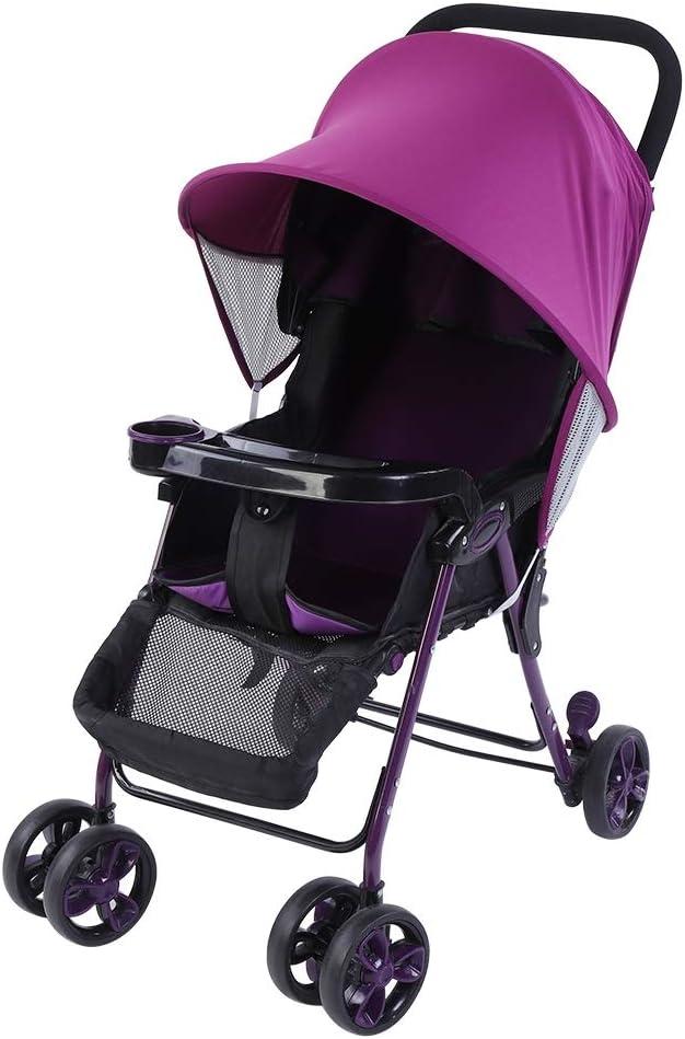 Purple Couverture de soleil de poussette poussette de b/éb/é infantile poussette ombre fabricant soleil ombre auvent protection UV rayons couverture pour les tout-petits