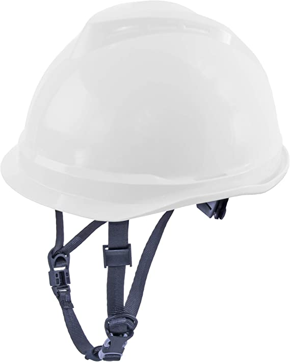 MSA 520 V-Gard Casco de Seguridad con Correa de Barbilla para la protección en la construcción - Blanco: Amazon.es: Bricolaje y herramientas
