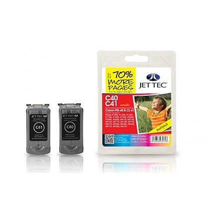 Jet Tec C40 C41 - Cartucho de Tinta para impresoras: Amazon ...