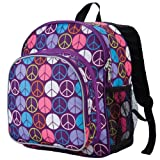 Wildkin Peace Signs Pack 'n Snack Backpack