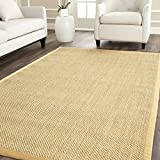 Safavieh Natural Fiber Collection NF443A Tiger Eye Maize and Wheat Sisal Area Rug (9' x 12')