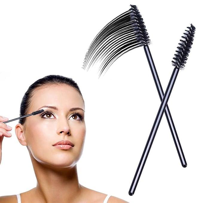 Cepillos desechables de máscara de pestañas; kit de brocha aplicadora de maquillaje de cejas.: Amazon.es: Belleza