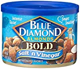 vinegar and salt almonds - Blue Diamond Salt & Vinegar Almonds, Bold Tins, 6 oz, 3 pk