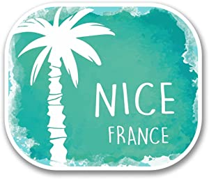 2 x 30cm- 300mm Nice France Vinyl SELF ADHESIVE STICKER Decal Laptop Travel Luggage Car iPad Sign Fun #6331