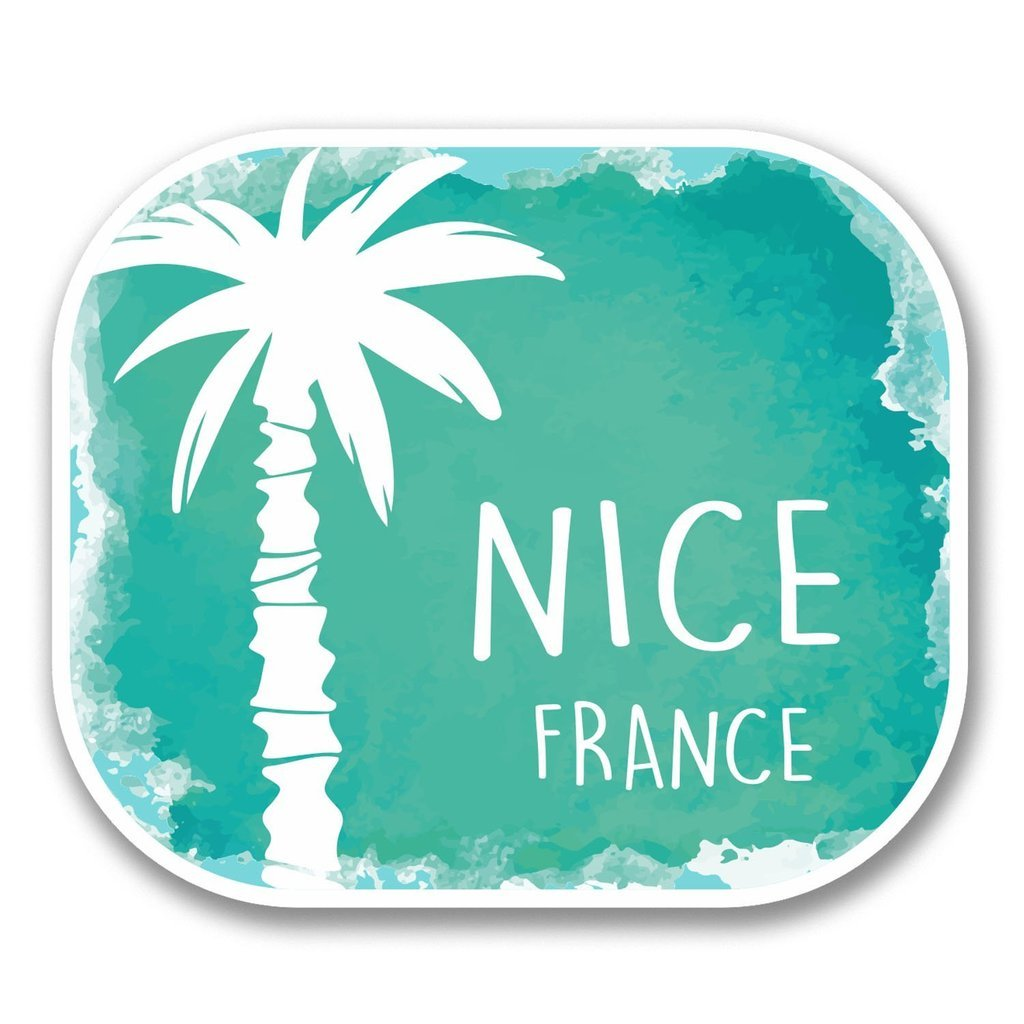 2 x 30cm/300mm Nice France Vinyl SELF ADHESIVE STICKER Decal Laptop Travel Luggage Car iPad Sign Fun #6331