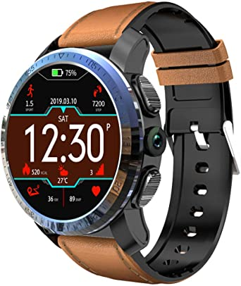 CAOQAO Reloj Inteligente Hombre KOSPET Optimus 2GB + 16GB AMOLED 4G Dual Chip 8.0MP 800mAh IPX67 SmartWatch Compatible Compatible para iPhone Xiaomi Huawei Samsung (C): Amazon.es: Relojes