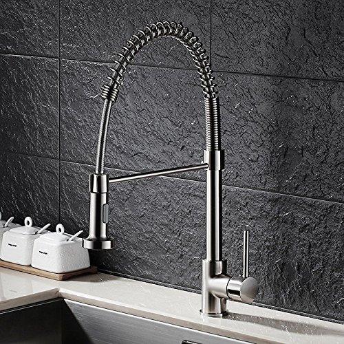 Gyps Faucet Waschtisch-Einhebelmischer Waschtischarmatur Badarmatur Gebürstet Frühling Küche Wasserhahn Ziehen heißen und Kalten Wasser Spülen Waschbecken Wasserhähne,Mischbatterie Waschbecken