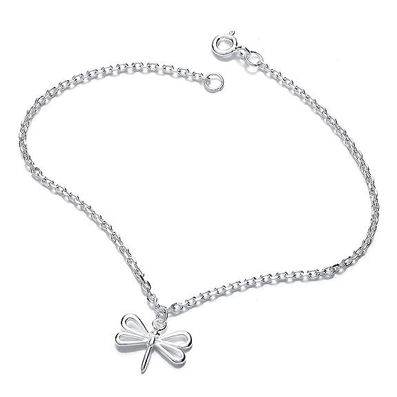 Jodie Rose Silver Sterling Acorn Bracelet of Length 19 cm voEPuIWUcW