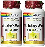 Solaray One Daily St. John's Wort Supplement, 900 mg, 60 Tablets (2 Pack)