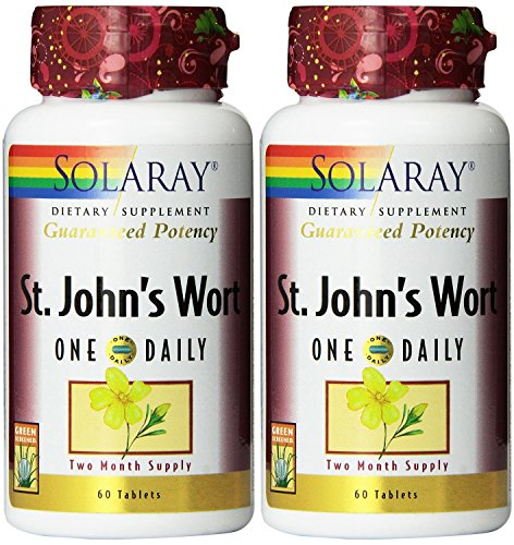 One daily St. John's wort 60 tablets (Pack of 2) Solaray 60 Tabs