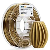 AMOLEN 3D Printer Filament, Frosted Bronze 1.75mm PLA Filament +/- 0.03 mm, 225G/0.5 lbs Spool, Includes Sample Marble Filament - 100% USA