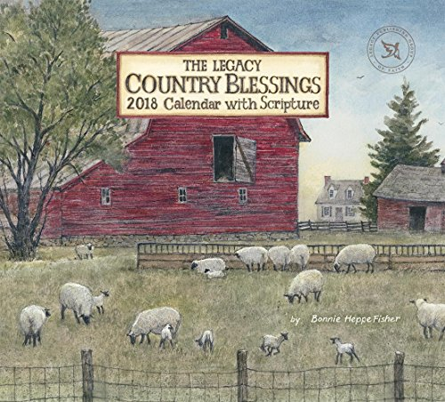 Legacy Publishing Group 2018 12-Month Wall Calendar with Scripture, Country Blessings