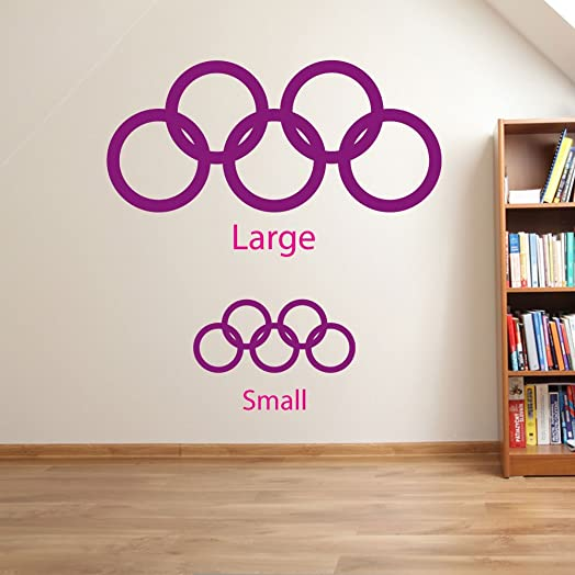 Olympic Rings Wall Decorations Window Stickers Wall Decor Wall - Window stickers amazon uk