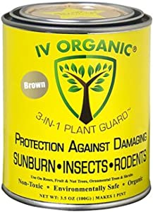 IV Organic 3-in-1 Plant Guard, 1 Pint (Brown)