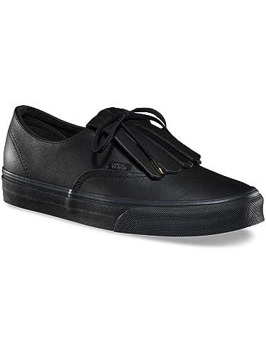 vans cuir noir