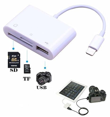 hangang lector de tarjeta SD 3 en 1 Lightning a USB Kit de ...