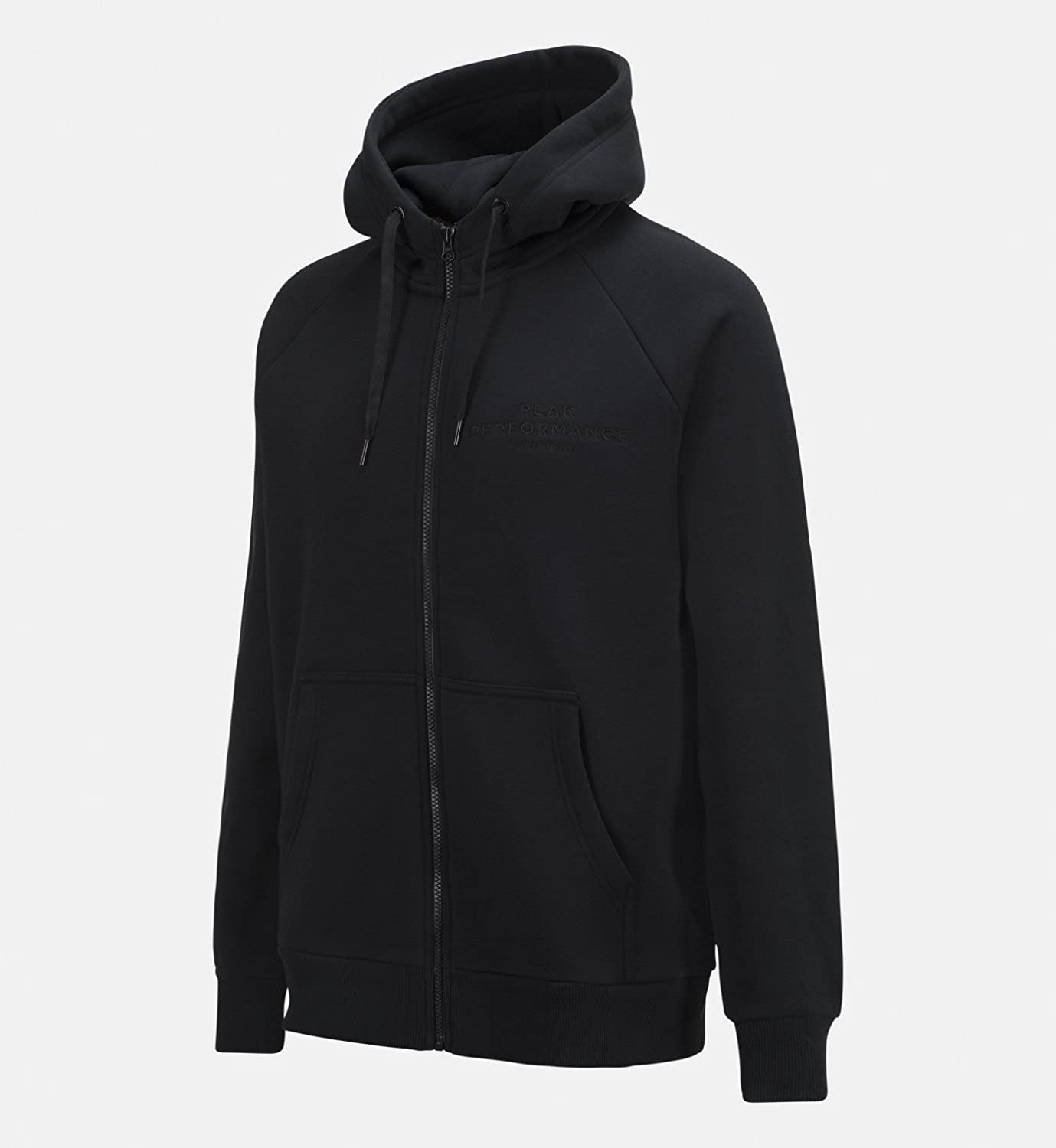 Peak Performance Logo Zip Hood schwarz