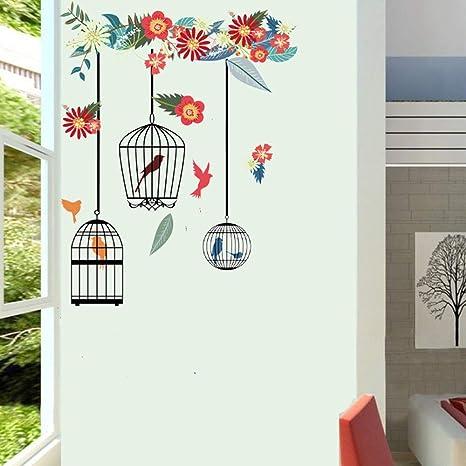 Wall Art Bedroom Wall Bird Decal Home Decor Bird Decor Bird Cage Decal Wrought Iron Decal Bird Cage Decor Wrought Iron Decor