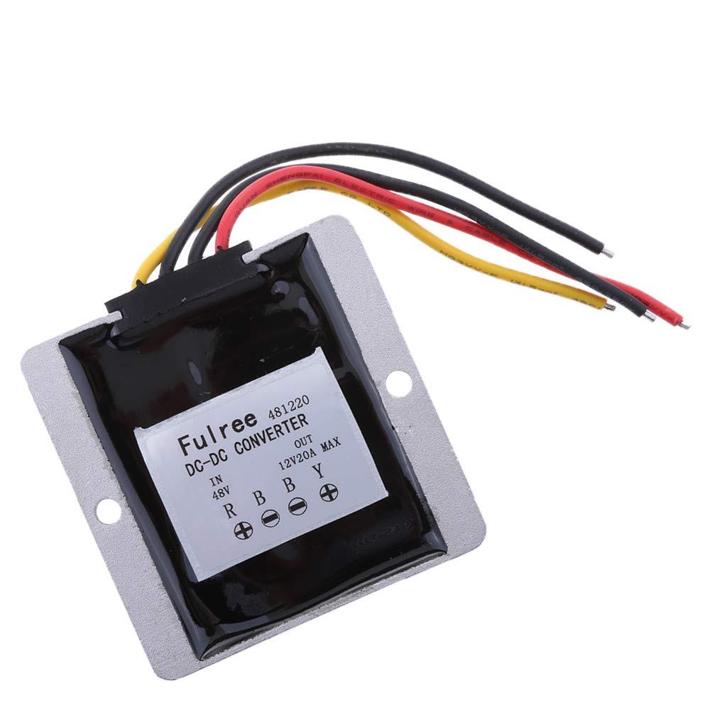 Homyl 48V to 12V 25A 300W Voltage Reducer DC Step Down Converter 20-60V to 12V 20A DC Buck Converter