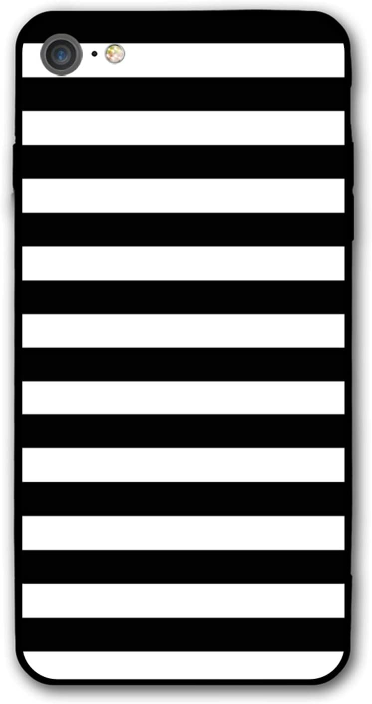 Black and White Stripe Case for iPhone 7/8 Cases, Drop Anti-Scratch Shockproof Slim Thin iPhone 7 Cover, iPhone 8 Case